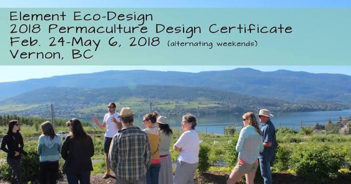 2018 Element Eco-Design Permacultre Design Certificate Workshop