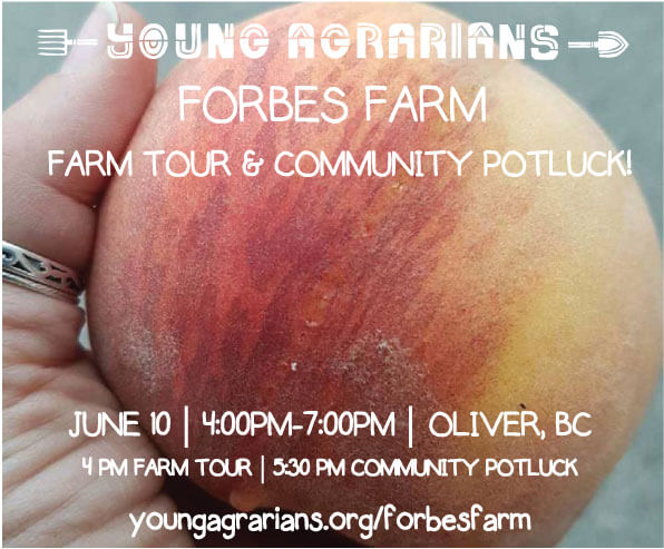 Young Agrarians Farm Tour at Forbes Family Farm in Oliver
