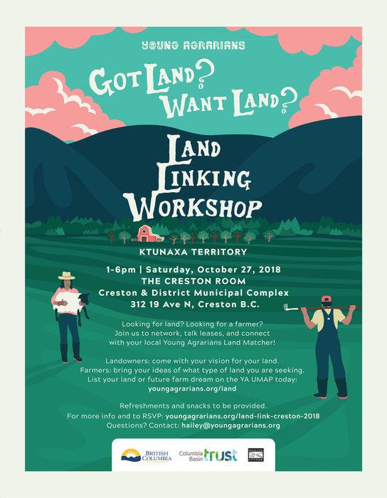 Land Linking Workshop, OCT 27 – Creston