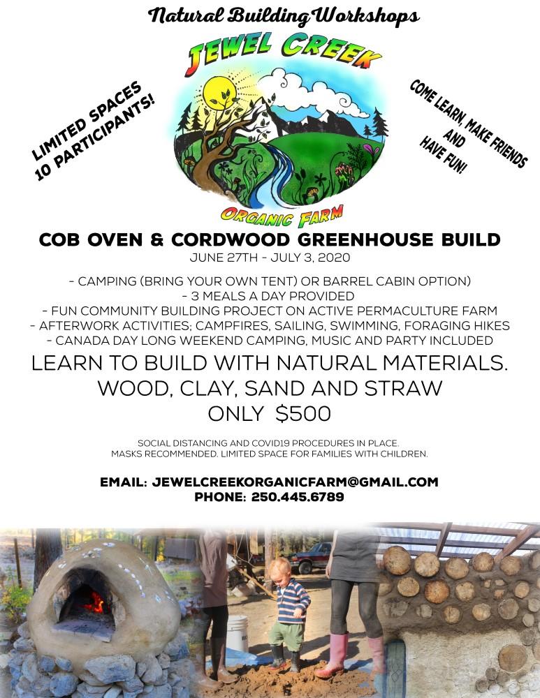Cob Oven and Cordwood Greenhouse Build Workshop