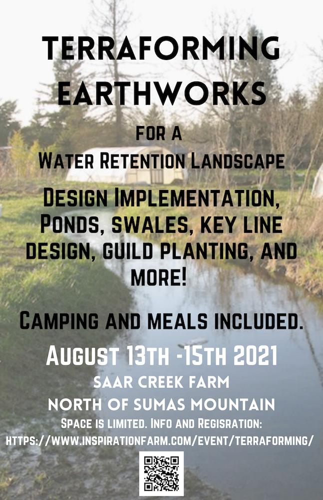 Terraforming Earthworks for a Water Retention Landscape